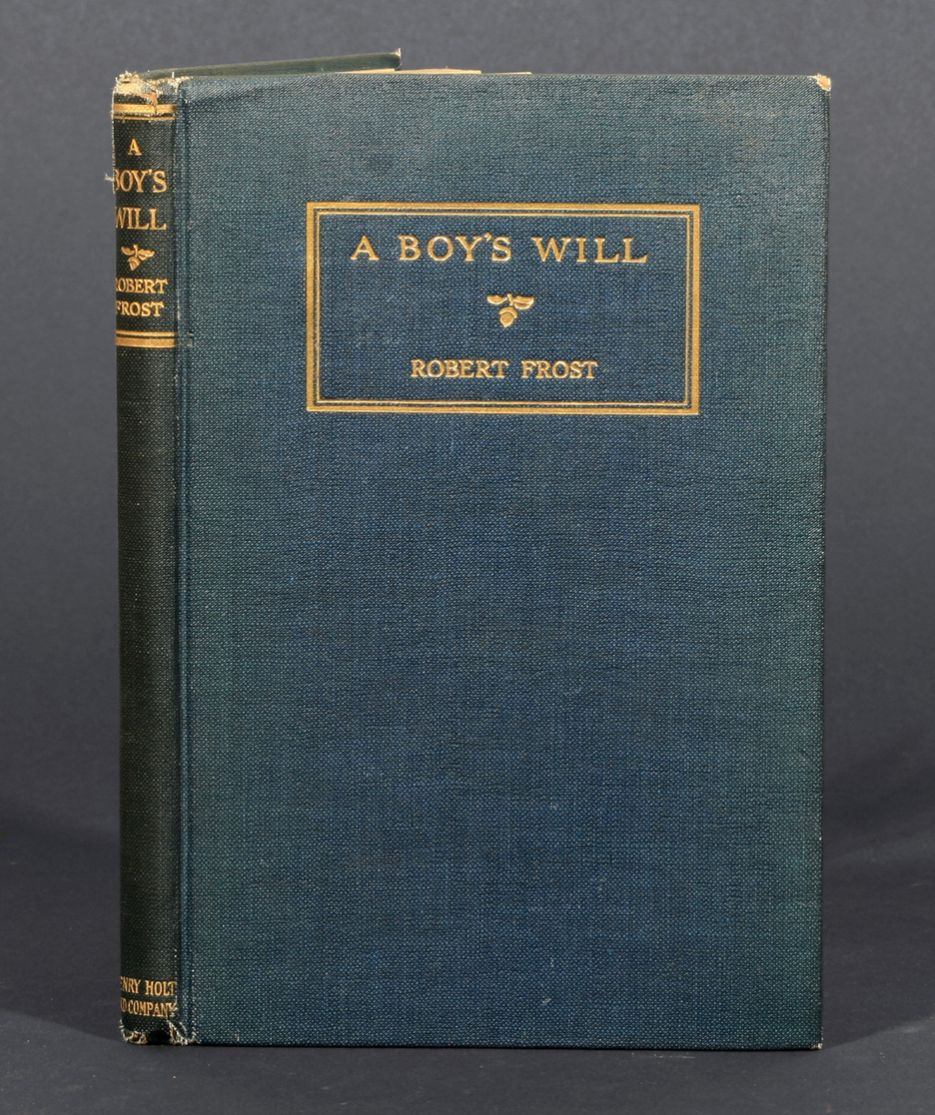 a description of robert frost first book of poems a boys will in 1913 (harris 1) from the publication of his first book to his death, frost created an  a  boy's will, a collection of mainly autobiographical poems published in 1913   such as birches frost employs various sound devices in his description of trees,.