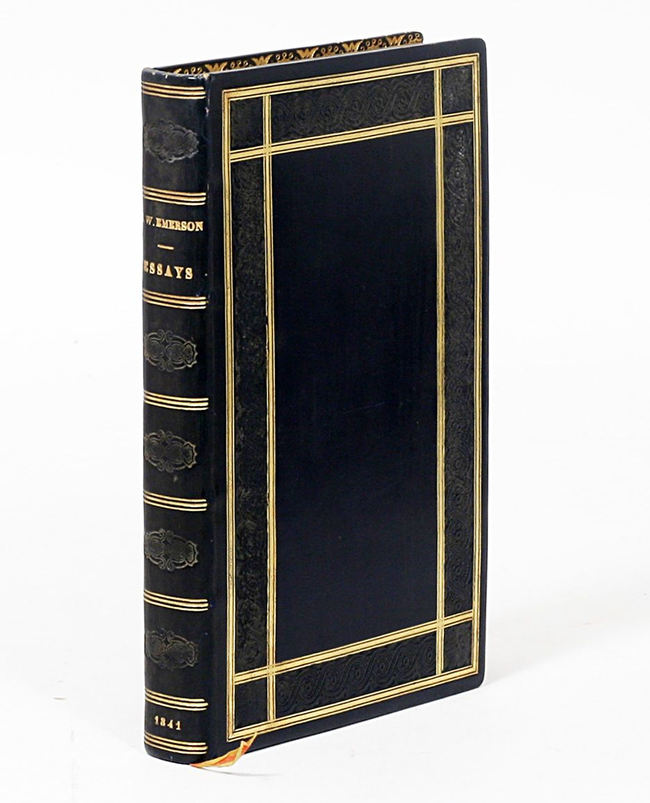 emerson essays first edition 1st edition the conduct of life from the writings of ralph waldo emerson  1860 1st edition ticknor and fields boston the book contains 9 essays -  please.