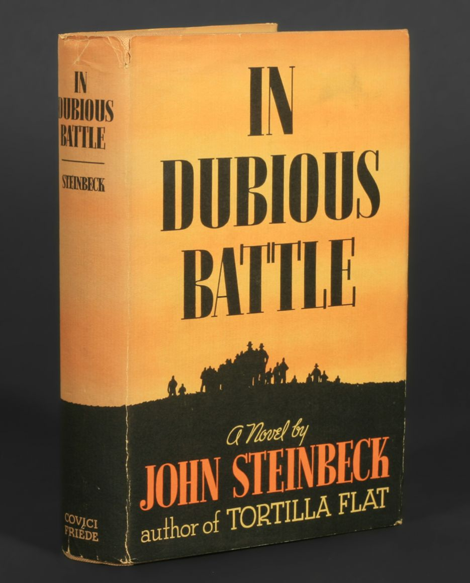 an analysis of the novel dubious battle by john steinbeck Book review: in dubious battle by john steinbeck march 25, 2009 at 09:19 tags book reviews mac and jim are communist party field workers in the troublesome 1930s on the west coast of the us.
