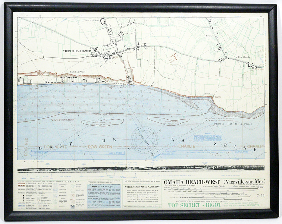 Top Secret Ot Map Of Omaha Beach