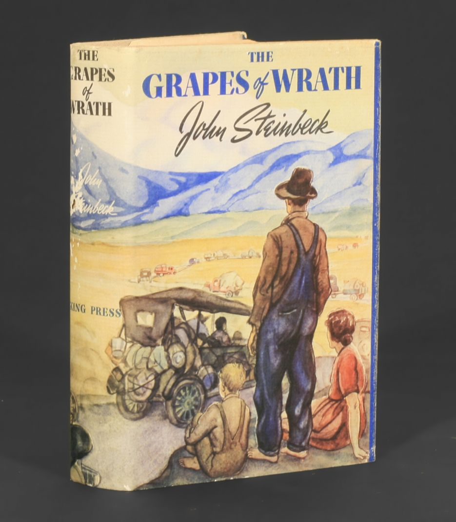 the concept of manself in the grapes of wrath by john steinbeck The grapes of wrath (book) : steinbeck, john : april 2014 marks the 75th anniversary of the first viking hardcover publication of steinbeck's crowning literary achievement first published in 1939, steinbeck's pulitzer prize-winning epic of the great depression chronicles the dust bowl migration of the 1930s and tells the story of one oklahoma.