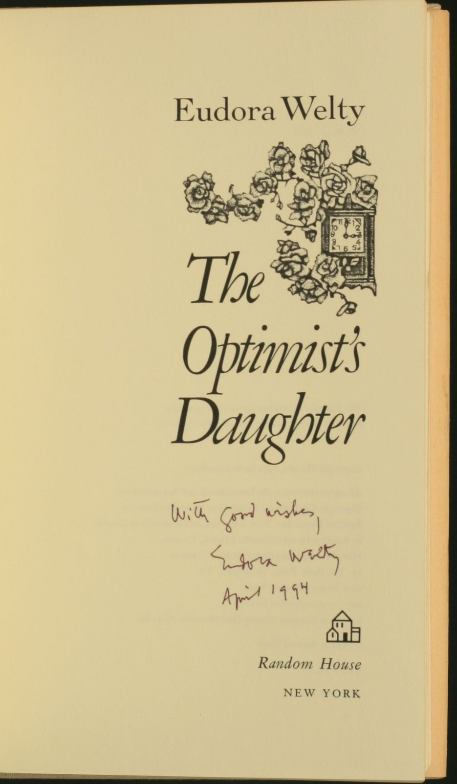 a response to the optimists daughter by eudora welty The optimist's daughter by eudora welty free shipping paperback book classic literature, classic 1990 paperback 45 out of 5 stars - the optimist's daughter by eudora welty free shipping paperback book classic.