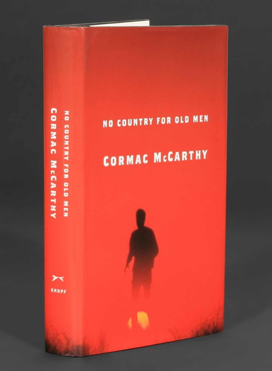 no country for old men writer Cormac mccarthy's no country for old men is as bracing a  he might have  been wise to let his writing hand be removed at the wrist,.