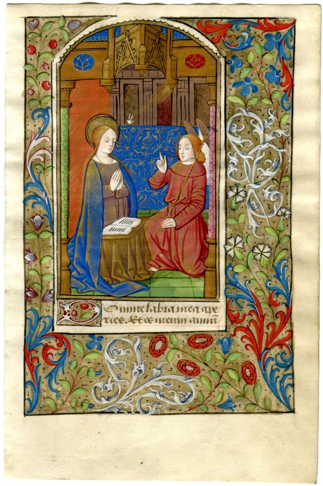 illuminated manuscript miniature the annunciation