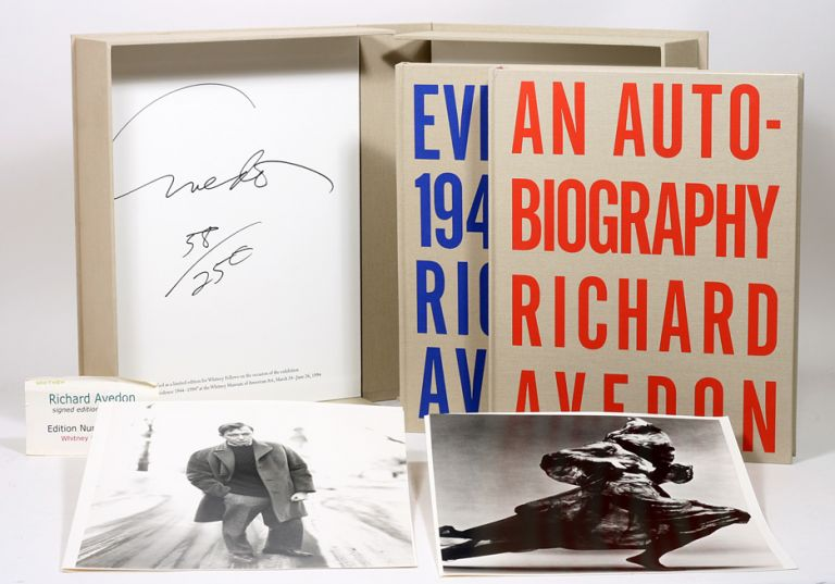 An Autobiography WITH: Evidence 1944-1994 [Whitney Museum]. RICHARD AVEDON.