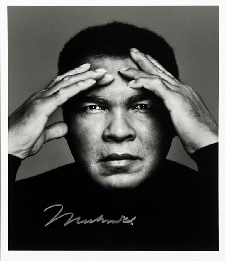 Silver Gelatin Photographs Signed. MUHAMMAD ALI, RICHARD CORMAN.