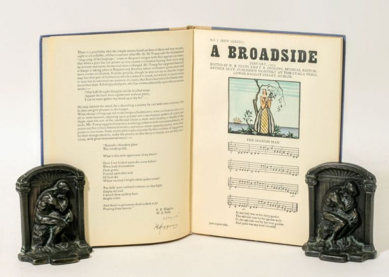 BROADSIDES, A COLLECTION OF NEW AND OLD SONGS, 1935. WILLIAM BUTLER YEATS, JAMES STEPHENS, F. R. HIGGINS, FRANK O'CONNOR, LYNN DOYLE, BRYAN GUINESS, PADRAIC COLUM.