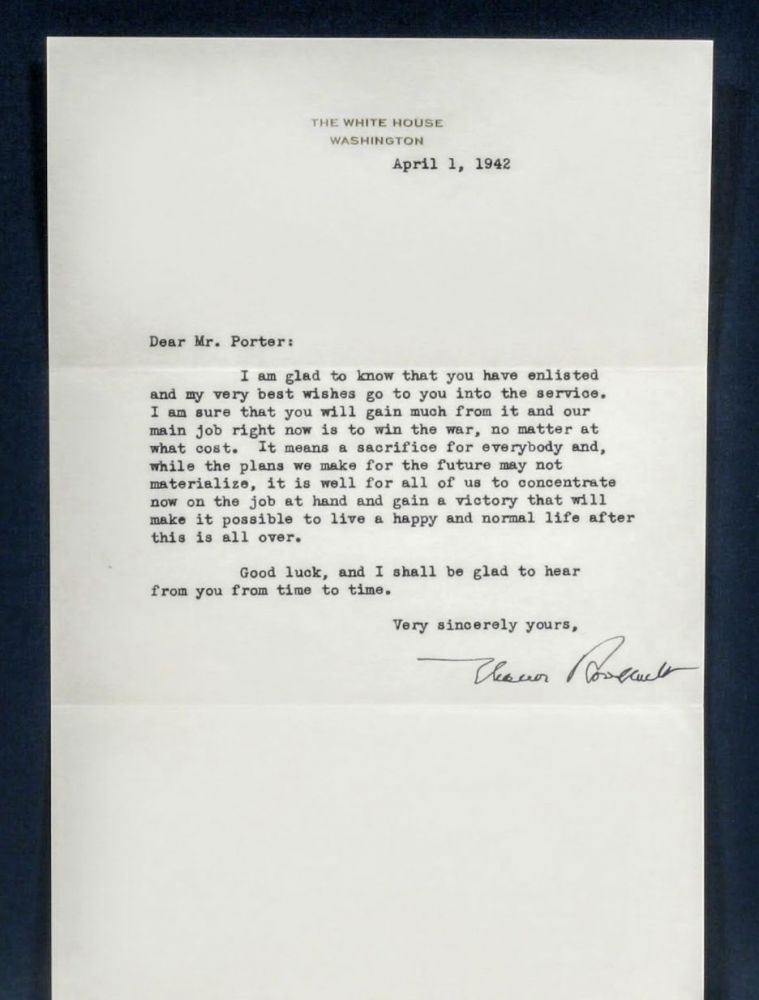 TYPED LETTER SIGNED. ELEANOR ROOSEVELT.