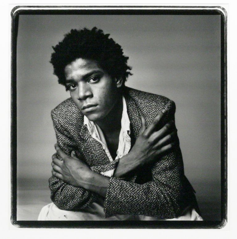 Vintage Silver Gelatin Photograph of Jean-Michel Basquiat. JEAN-MICHEL BASQUIAT, RICHARD CORMAN.