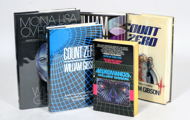 "William Gibson Collection: Signed first editions of Gibson's ""Sprawl Trilogy"", including Neuromancer, Mona Lisa Overdrive, and Count Zero. William Gibson."