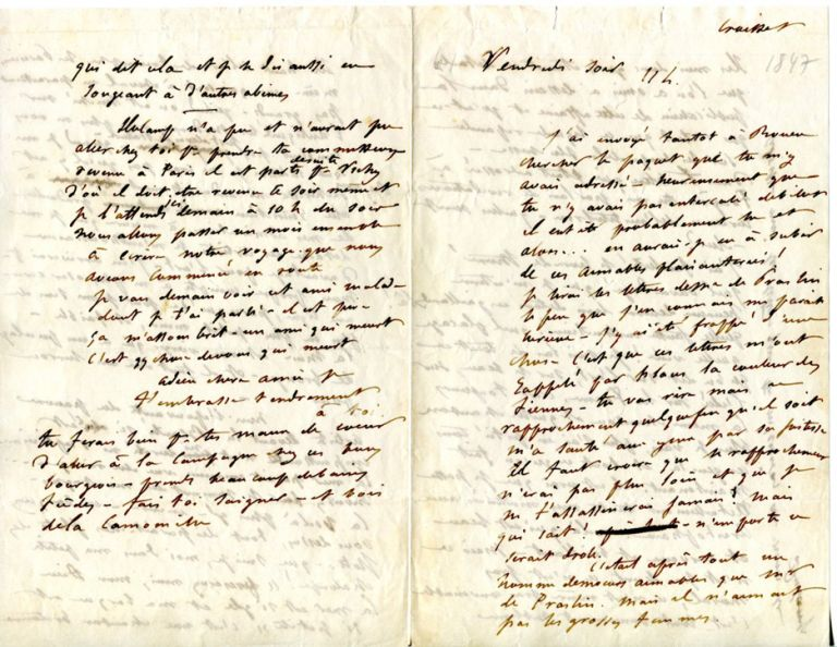 "Autograph Letter [Signed ""A toi""] to Louise Colet. GUSTAVE FLAUBERT."