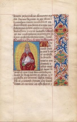 Illuminated Manuscript: Prayer to God, the Father