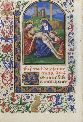 Illuminated Manuscript Leaf: The Lamentation. ILLUMINATED MANUSCRIPT