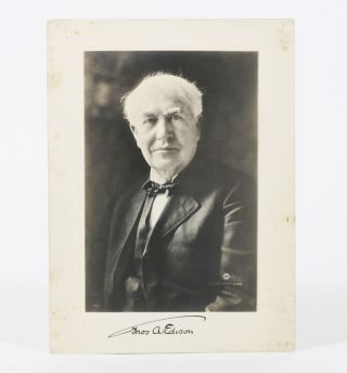 Photograph Signed. THOMAS EDISON.