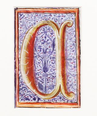 "Illuminated Manuscript: Large Initial ""C"""