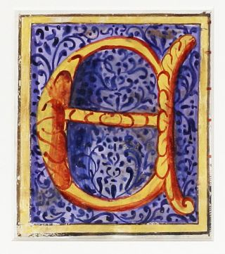 "Illuminated Manuscript: Large Initial ""E"""