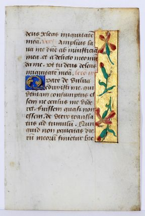 Illuminated Manuscript: Leaf with Text from the Office for the Dead. ILLUMINATED MANUSCRIPT.