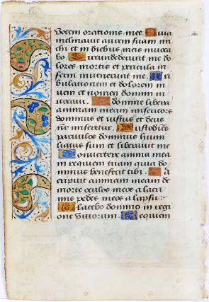 Illuminated Manuscript: Leaf with Miniature Depicting Job