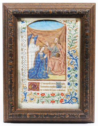 Illuminated Manuscript: Coronation of the Virgin Mary. Illuminated Manuscript