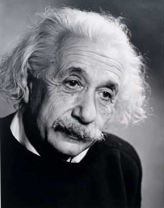 Photograph. ALBERT EINSTEIN, FRED STEIN.
