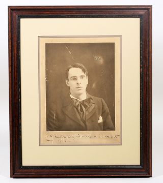 Photograph Signed. WILLIAM BUTLER YEATS, ALICE BOUGHTON.