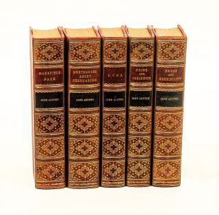 Sense and Sensibility; Pride and Prejudice; Emma; Northanger Abbey; Mansfield Park; Persuasion. JANE AUSTEN.