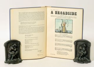 BROADSIDES, A COLLECTION OF NEW AND OLD SONGS, 1935. WILLIAM BUTLER YEATS, JAMES STEPHENS, F. R....