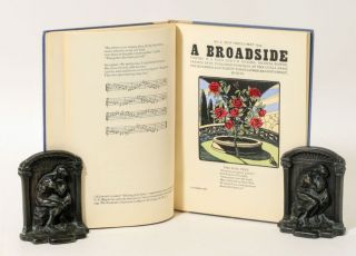 BROADSIDES, A COLLECTION OF NEW AND OLD SONGS, 1935.