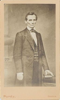 "Speech of Abraham Lincoln of Illinois, Delivered at the Cooper Institute, Monday, Feb. 27, 1860 [Cooper Union Address]. WITH: Carte-de-Visite of the Mathew Brady ""Cooper Union"" photograph"