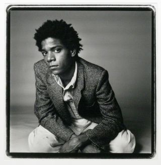 Vintage Silver Gelatin Photograph of Jean-Michel Basquiat. JEAN-MICHEL BASQUIAT, RICHARD CORMAN