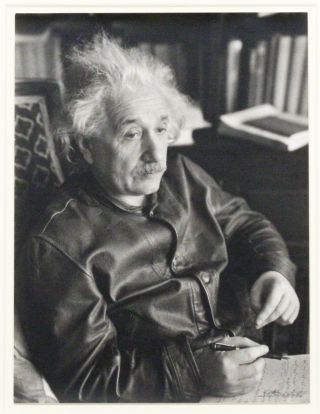 Silver Gelatin Photograph. ALBERT EINSTEIN, LOTTE JACOBI.