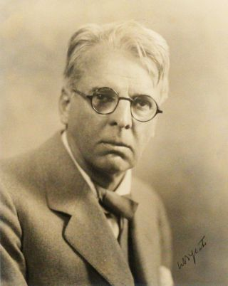 Photograph Signed. WILLIAM BUTLER YEATS, MARTIN VOS