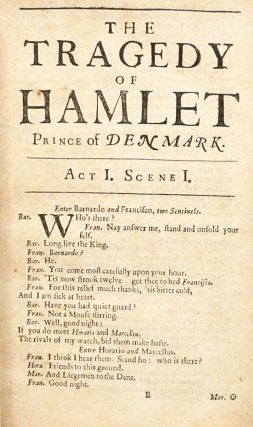 The Tragedy of Hamlet Prince of Denmark. As it is now Acted at his Highness the Duke of York's Theatre