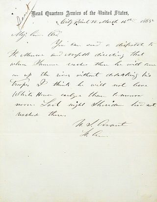Autograph Letter Signed. ULYSSES S. GRANT