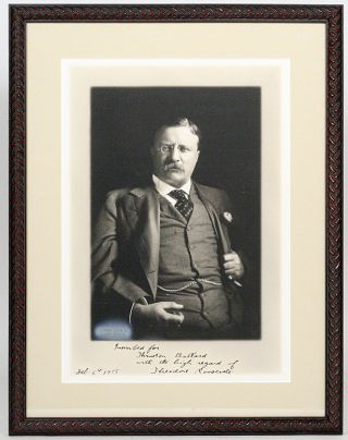 Photograph Signed. THEODORE ROOSEVELT.