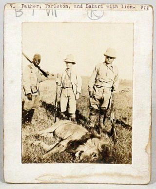 Original Photographs from his African Expedition. THEODORE ROOSEVELT.