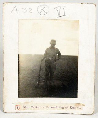 Original Photographs from his African Expedition