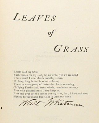 Complete Poems & Prose of Walt Whitman 1855... 1888 [Leaves of Grass]. WITH: Autograph Letter Signed