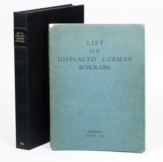 List of Displaced German Scholars. ALBERT EINSTEIN, ERWIN SCHRÖDINGER, MARTIN BUBER.