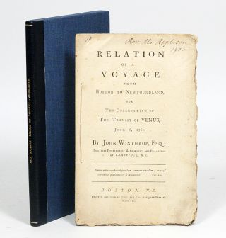 Relation of a Voyage from Boston to Newfoundland, for the Observation of the Transit of Venus,...