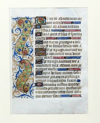 Illuminated Manuscript Leaf: Large leaf with miniature of the Coronation of the Virgin from a French Book of Hours