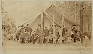 Albumen photograph of Ulysses S. Grant and Staff. ULYSSES GRANT, MATHEW BRADY, CIVIL WAR