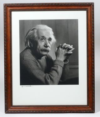 Portrait Photograph of Albert Einstein, signed by Yousuf Karsh