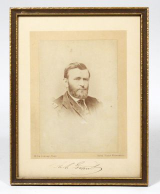 Albumen Photograph Signed. ULYSSES S. GRANT