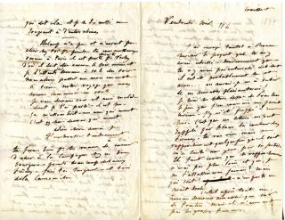 "Autograph Letter [Signed ""A toi""] to Louise Colet. GUSTAVE FLAUBERT"