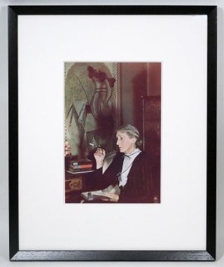 Photograph of Virginia Woolf signed by Gisèle Freund