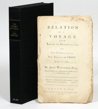 Relation of a Voyage from Boston to Newfoundland, for the Observation of the Transit of Venus, June 6, 1761. WITH: Two Lectures on the Parallax and Distance of the Sun, as Deducible from The Transit of Venus