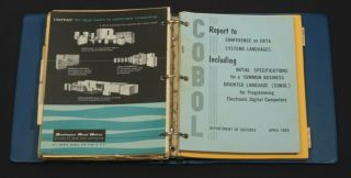 COBOL: Initial specifications for a COmmon Business Oriented Language